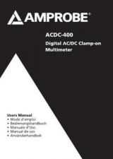 Buy Amprobe ACDC400 User Instructions Operating Guide by download Mauritron #194185