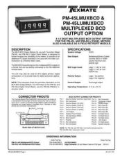 Buy Texmate PM-45LMUXBCD(X12)L11-1-91 Instructions by download #180832