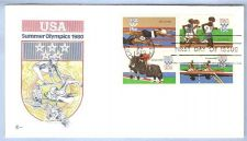 Buy CA Los Angeles First Day Cover / Commemorative Cover USA Summer Olympics 1~59