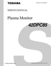 Buy TOSHIBA 42DPC95 SVM Service Schematics by download #159967