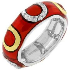 Buy Red Horseshoe Enamel Ring (size: 09)