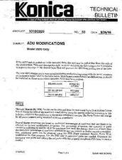 Buy Konica 33 ADU MODIFICATIONS MODEL Service Schematics by download #136119