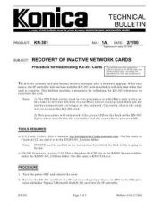 Buy Konica 01A RECOVERY OF INACTIVE NE Service Schematics by download #135796