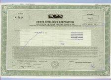 Buy DE na Stock Certificate Company: Edisto Resources Corporation ~29