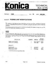 Buy Konica 19 FUSING UNIT MODIFICATION Service Schematics by download #136025