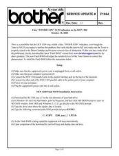 Buy Brother SU_F1064 Service Schematics by download #134677