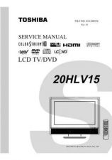 Buy TOSHIBA 20HLV15 SVM Service Manual by download #167350