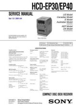 Buy SONY HCD-EP30EP40 Service Manual by download #166939