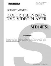Buy TOSHIBA MD14F51 SUM Service Schematics by download #160162