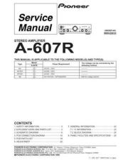 Buy PIONEER R2033 Service Data by download #149361