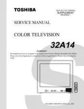 Buy TOSHIBA 32A14SUMREV1 Service Schematics by download #159851