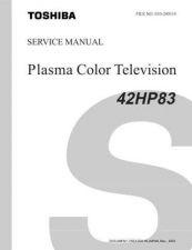 Buy TOSHIBA 42HP83 SVCMAN Service Schematics by download #159975
