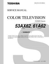 Buy TOSHIBA 53AX62 61A62 SUMMARY Service Schematics by download #160051