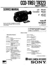 Buy SONY CCD-TR57 Service Manual by download #166425