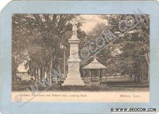 Buy CT Milford Postcard Soldiers Monument & Milford Park Undivided Back ct_box~1459