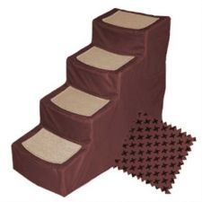 Buy Pet Gear Designer Stair IV Pet Stairs with Removable Cover Burgundy