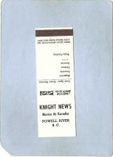 Buy CAN Powell River Postcard Knight News Marine At Burnaby can_box1~64