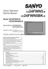Buy Sanyo CE24FWN5BK-B-00 SM Manual by download #172988