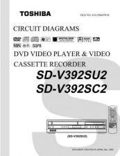 Buy TOSHIBA SDV393SU CD Service Schematics by download #160455
