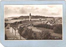 Buy ENG England Lighthouse Postcard Plymouth Hoe & Drake's Island Real Photo P~994