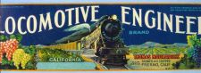 Buy CA Fresno Fruit Crate Label Locomotive Engineer Brand Grower And Shipper T~45