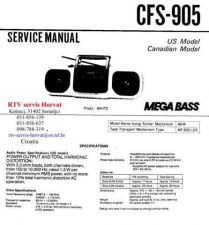 Buy MODEL SONY CFS905 Service Information by download #124536