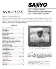 Buy Sanyo AVM-2550S(SM780063-02) Manual by download #172677