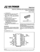 Buy MODEL TDA7314 Service Information by download #124793