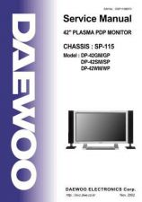 Buy Daewoo DP-42SP (E) Service Manual by download #154673