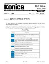 Buy Konica 05 Service Schematics by download #135443