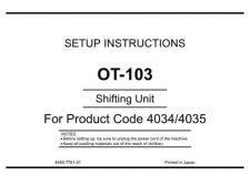 Buy Minolta UNPACKOT-103 Service Schematics by download #137387