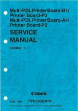 Buy CANON MPPB B1(P3)MPPBA1(P2) SM Service Manual by download #137726