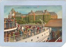 Buy CAN Victoria Postcard C P R Empress Hotel w/Ship At Dock can_box1~213