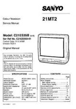 Buy Sanyo 21MT2 SM-Only Manual by download #172616