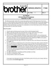 Buy Brother SU_F1060 Service Schematics by download #135070