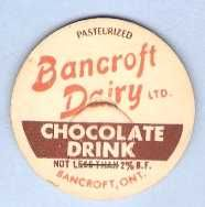 Buy CAN Ontario Bancroft Milk Bottle Cap Name/Subject: Bancroft Dairy LTD. Cho~550