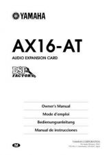 Buy Yamaha AX16AT E Operating Guide by download Mauritron #204407