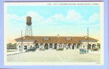 Buy FL Daytona Beach FEC Railroad Station View Long White Stone Depot w/Brown ~12
