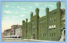 Buy CT New Haven State Armory Street Scene w/Ivy Covered Building And Other Ol~580