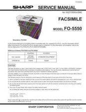 Buy Sharp FO5550U Service Manual by download #139050
