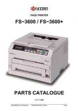 Buy KYOCERA FS-3600 PARTS MANUAL by download #152152