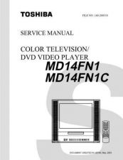 Buy TOSHIBA MD14FN1 MD14FN1C SVCMAN Service Schematics by download #160164