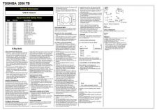 Buy Toshiba 2550TB Service Manual by download #153570