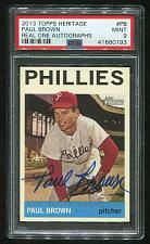 Buy 2013 TOPPS HERITAGE REAL ONE AUTO PAUL BROWN PSA 9 MINT (41680193)