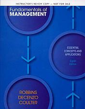 Buy Fundamentals of Management: Essential Concepts and Applications 8th INSTRUCTOR'S