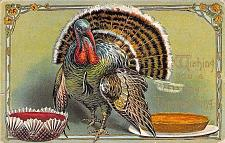 Buy Wishing You A Happy Thanksgiving Turkey Embossed Vintage Postcard