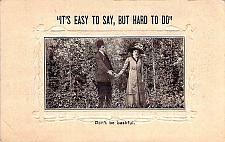 Buy Don't Be Bashful, Embossed Fancy Border Vintage Romance Postcard