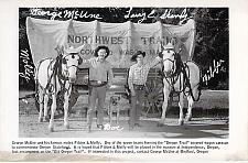 Buy Mules Fibber & Molley Oregon Trail, Medford, Oregon Real Photo Postcard RPPC