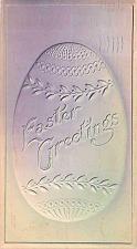 Buy Easter Greetings, Air Brushed Embossed Egg Vintage Postcard #2