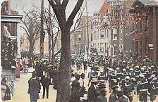 Buy US Navy Sailors Parade 1909 Round the World Trip Return Vintage Postcard